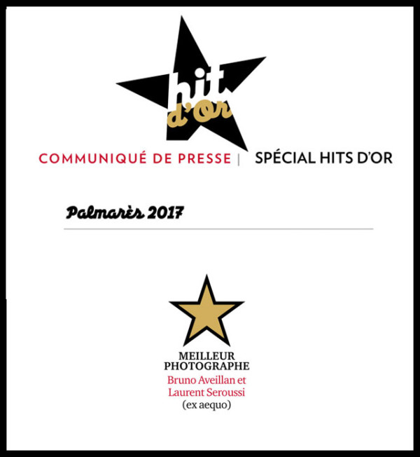 Laurent Seroussi sacré meilleur photographe CB News Hit d'or 2017